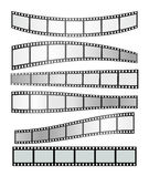 Film strip vector. Vector realistic illustration of film strip on white background. Template film roll Stock Photos