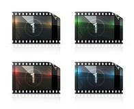 Film strip, vector set Stock Photos