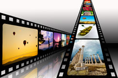 Film strip. With vibrant photographs Stock Photography