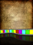 Film strip on vintage background. Film on a background of old parchment, vector art illustration Stock Photography