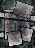 Film strip  with vintage grunge texture on grunge Stock Images