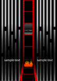 Film strip wallpaper Stock Photography