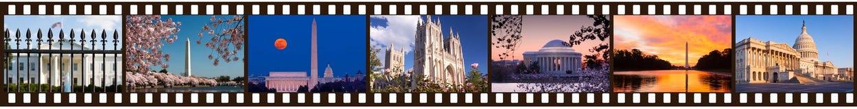 Film strip of Washington DC sights Stock Image