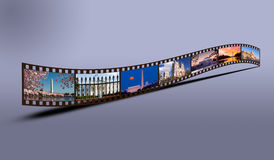 Film strip of Washington DC sights Stock Image
