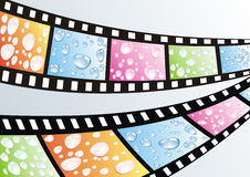 A film strip. With water drops Royalty Free Stock Image