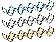 Film strip wave Royalty Free Stock Photography