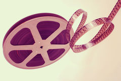 Film strip wheel vintage  background Stock Photography