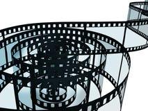 Film strip on white stock illustration
