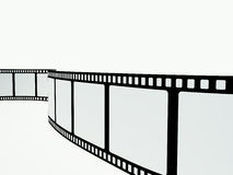 Film strip on the white background. 1 Royalty Free Stock Photography