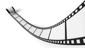 Film strip. A film strip on a white background stock photos