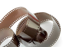 Film strip on white background Stock Photos