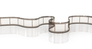 Film strip. On the white background Royalty Free Stock Photo