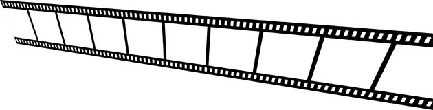 Film strip on white background. Vector illustration of film strips on white background - perspective view Royalty Free Stock Photography