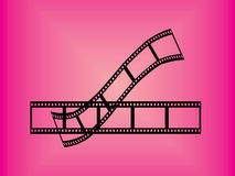 Film stripe. Illustration of simple film stripes on a pink baclkground Stock Image