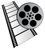 Film stripe. On white background Royalty Free Stock Images