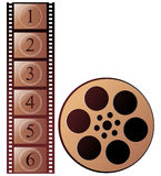 Film stripe. On white background Stock Image