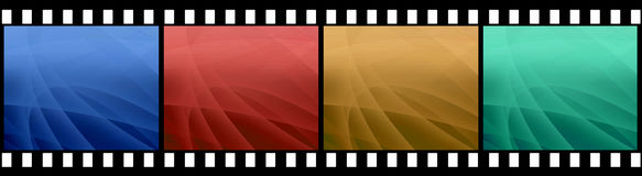 Film stripe with 4 images. Isolated on a white Royalty Free Stock Photos