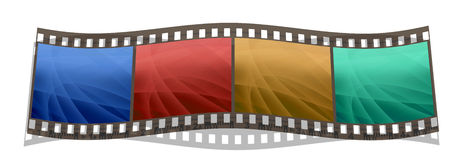 Film stripe with 4 images isolated on a white. Background Royalty Free Stock Photo