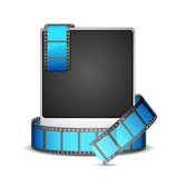 Film Stripe around Photo Royalty Free Stock Images