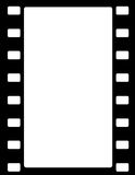 Film stripe border. Black and white film stripe border isolated on white background Royalty Free Stock Photo