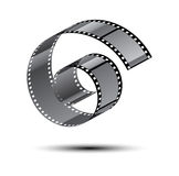 Film stripe curl Royalty Free Stock Images