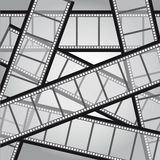 Film stripes. Old film stripes background, black and white. vector illustration Royalty Free Stock Photography