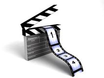 Film stripes. Isolated 3D  film stripes on an isolated white background Royalty Free Stock Image