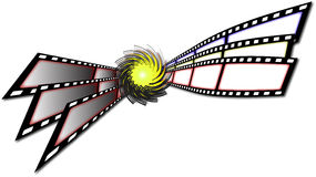 Film stripes. Stretched by the whirl-pool Royalty Free Stock Photo