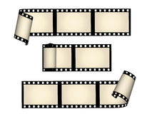 Film strips. The illustrated film strips on white background Stock Images