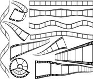 Film strips. Set of celluloid blank film strips Stock Image