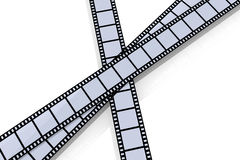 Film Strips. 3D Illustration. Isolated on white Stock Photography