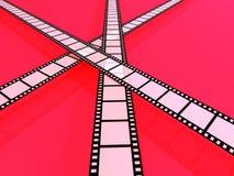 Film Strips. 3D rendered Illustration. Film Strips Stock Image