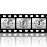 Film strips. Illustration of the film strip on a white background Stock Photos