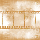 Film strips. Retro grunge background with film strips Stock Images