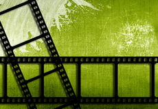 Film strips. Grunge background with film strips Stock Images