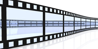 Film Strips. 3D Illustration. Isolated on white Royalty Free Stock Photo