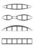 Film strips. Illustration of blank film strips isolated on white background Royalty Free Stock Photos