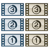 Film strips. Illustration for the web Royalty Free Stock Image