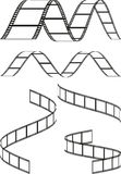 Film strips. A vector drawing represents film strips design Royalty Free Stock Photos
