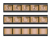 Film strips. With movie countdown and spare blanks. More in my portfolio Stock Image
