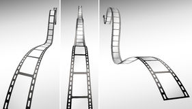 Film strips. Black and white vector Royalty Free Stock Photo
