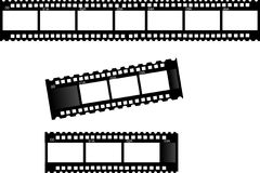Film strips. 3 film strips- different film strip frames Stock Images