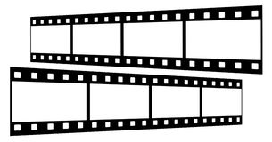 Film strips. 4 frames on 2 film strips Royalty Free Stock Photos