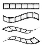 Film Strips. Various film strips for designs Royalty Free Stock Images