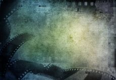 Film strips background. Copy space Royalty Free Stock Images