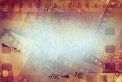 Film strips background. Film negative frames background, copy space Stock Image