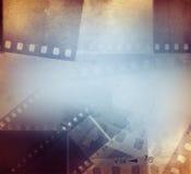 Film strips background. Film negative frames background, copy space Royalty Free Stock Image