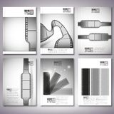 Film strips. Brochure, flyer or report for Royalty Free Stock Photography