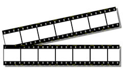 Film Strips (Clip Path). Film Strips - With Clipping Path Stock Photos