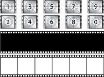 Film strips and countdown Royalty Free Stock Photos